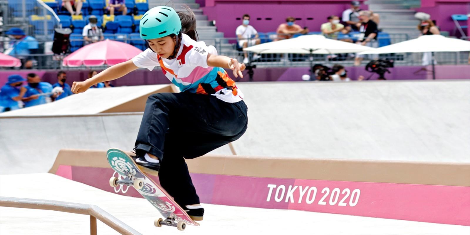 Đoạt huy chương Vàng Olympics khi mới 13 tuổi, Nishiya Momiji một lần nữa giúp Nhật Bản thể hiện đẳng cấp của mình trong bộ môn Trượt ván