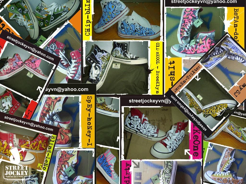 """15 năm trước, đã có 10 đôi giày Converse được một nhóm Graffiti nổi tiếng Hà Nội """"Custom"""" lại như thế này"""