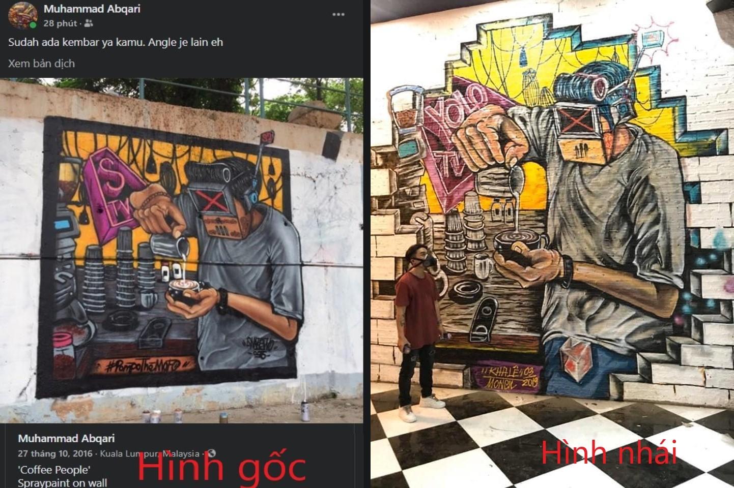 Một vụ đạo ý tưởng Graffiti bị tay vẽ Nguyễn Hoàng Hiệp phát hiện